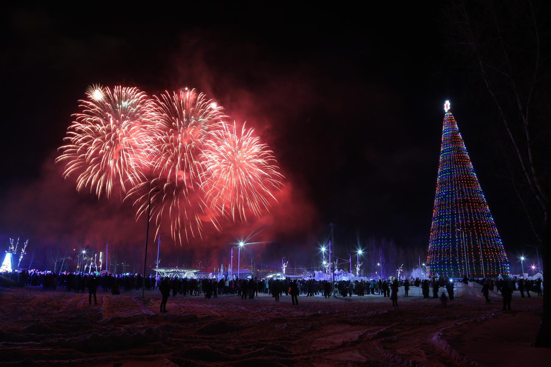 Елка в Красноярске на втором месте по высоте