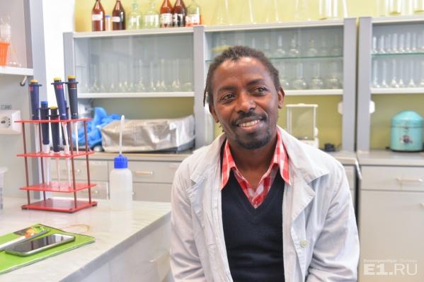Доминик Савьо приехал в УрФУ, чтобы изучать физиологию и биохимию растений