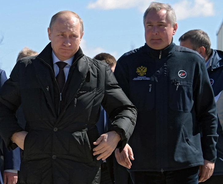 Владимир Путин и Дмитрий Рогозин
