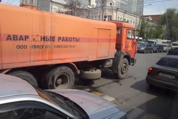 На пересечении Красноармейской и Буденновского большая пробка