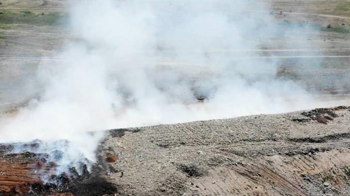 Свалка в Светлоярском районе горит и травит людей второй день подряд