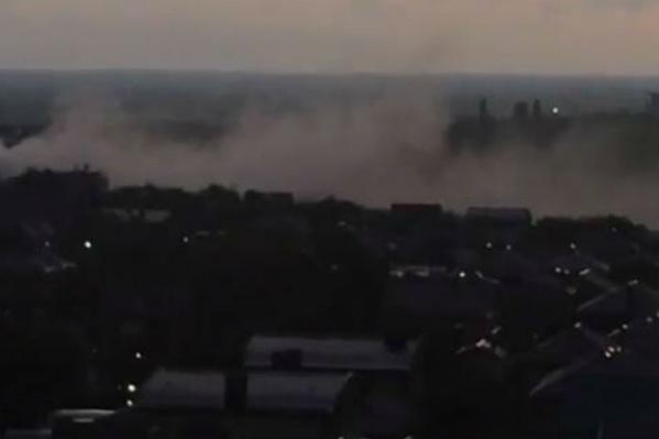 Пожар в бане видно по всей округе