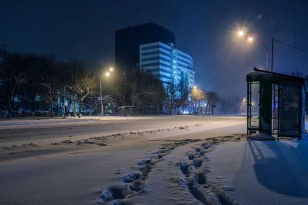 Так сегодня утром выглядела улица Мельникайте