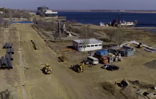 Строительство рокадной дороги в Волгограде сняли с высоты птичьего полета