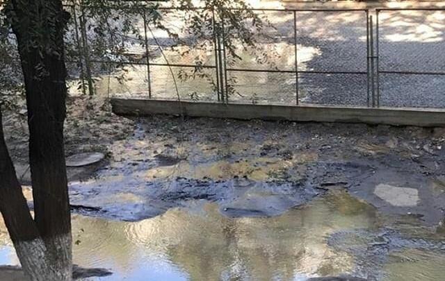 В Ворошиловском районе Волгограда затопило улицу Иркутскую