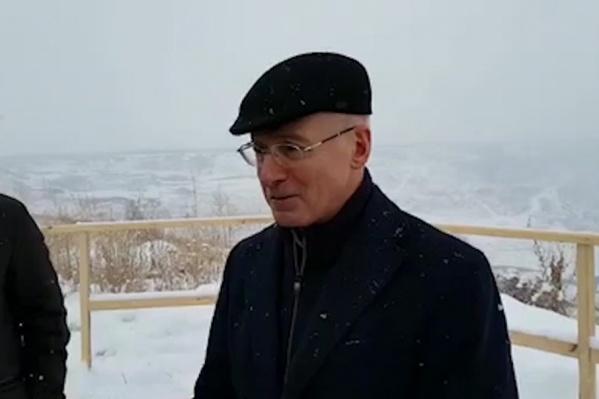 Александр Рыбас назвал гражданской позицией согласие РМК рекультивировать разрез