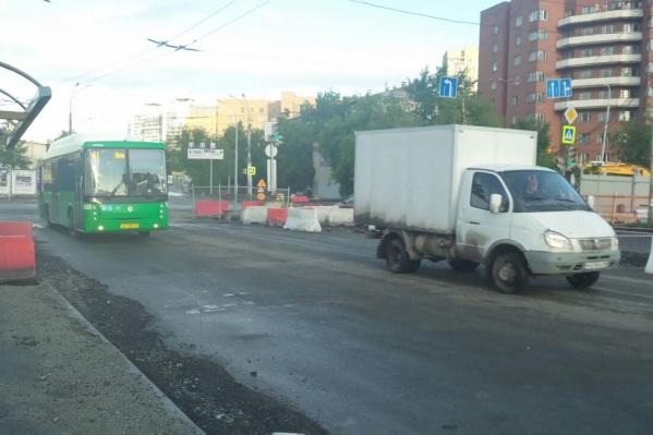 Движение по Репина открыли на день раньше запланированной даты.