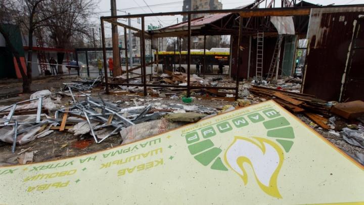 На проспекте Жукова сносят кормившее волгоградцев шашлыками кафе «Шампур»