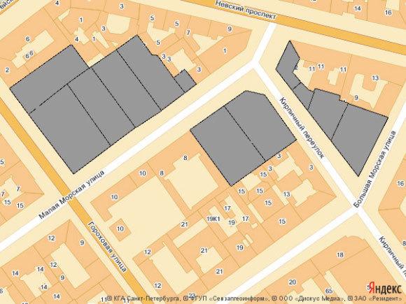 Зона укрепления домов в 1993-95 годах. Изображение - Яндекс. карты