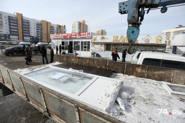 Владельцам незаконных киосков направят уведомление о демонтаже