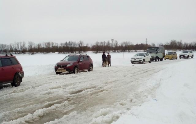 Прекращена работа автомобильной ледовой переправы Заручей–Кегостров