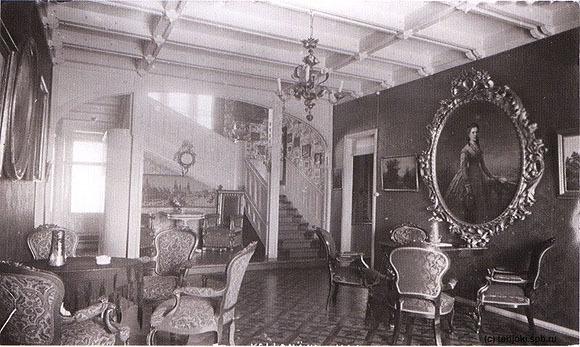 """Интерьер дворца """"Арфа"""". 1920-е годы."""