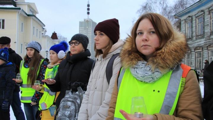 В Архангельске зажгли свечи в память о жертвах ДТП