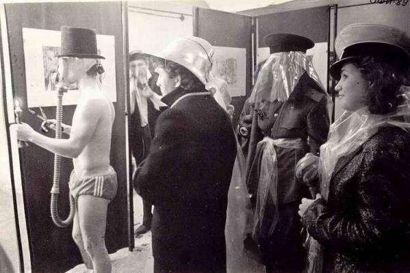 Открытие выставки Вячеслава Смирнова на Советской, 8 в 1989 году