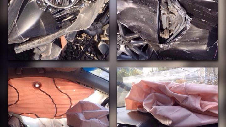 Страховщики пообещали водителю Honda, разбитой в ДТП с Porsche, возместить ущерб