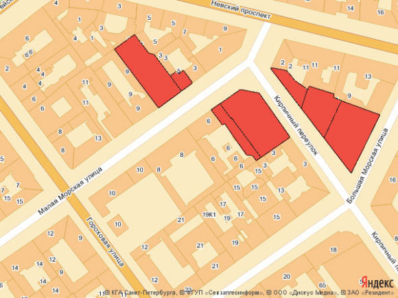Планировавшаяся зона расселения в 1994 году. Изображение - Яндекс. карты