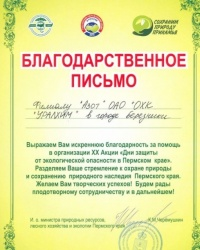 В краевом Минприроды отметили березниковский «Азот»