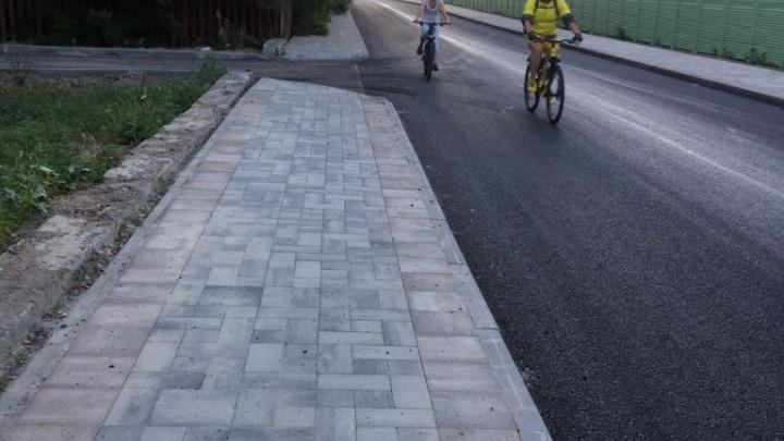 Рабочие завершили ремонт на улицах Левобережная и Чемордачка