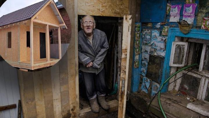 Волонтёры обвинили мэрию: чиновники мешают строить дом ветерану из землянки