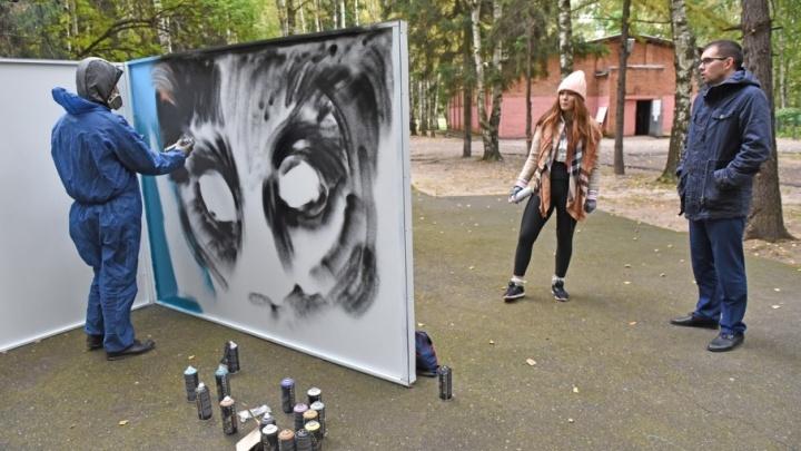 В ярославском парке поставили стену для разрешённых граффити