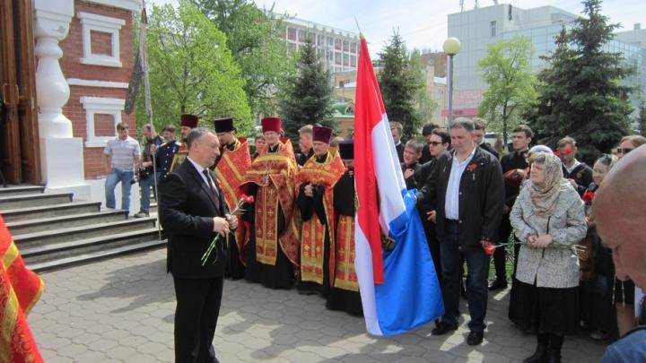 Самарское знамя освятили и отправили российским военным в Сирию