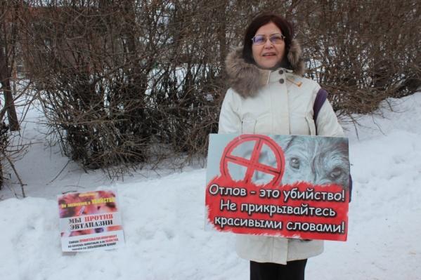 Татьяна Халина уже много лет занимается проблемами бездомных животных