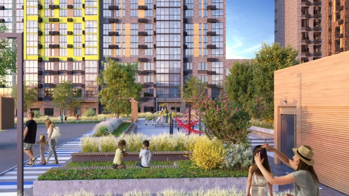 Архитекторы и дизайнеры разработали проект благоустройства двора вквартале «Счастье»