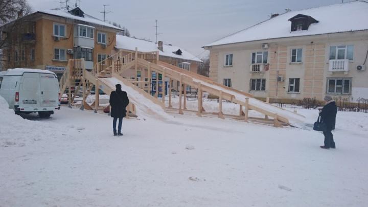 В Куйбышевском районе рассказали, когда можно бесплатно покататься на единственной горке