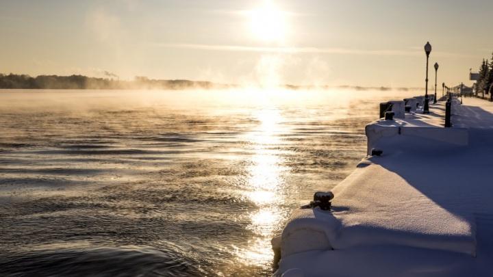 Волгу укутало туманом и инеем: звенящий фоторепортаж