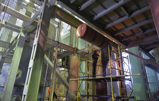 На Ростовской АЭС смонтировали центральную часть конденсатора турбины