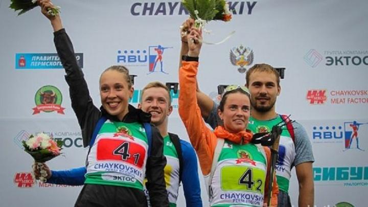 Сборная России стала чемпионом мира по летнему биатлону в смешанной эстафете в Чайковском