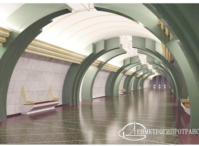 станция «Казаковская» / проект ЛМГТ / автор фото КРТИ