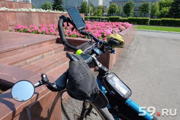 По городу велосипедисты проедут семь километров
