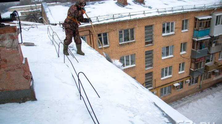 В Самаре 65% крыш очистили от снега