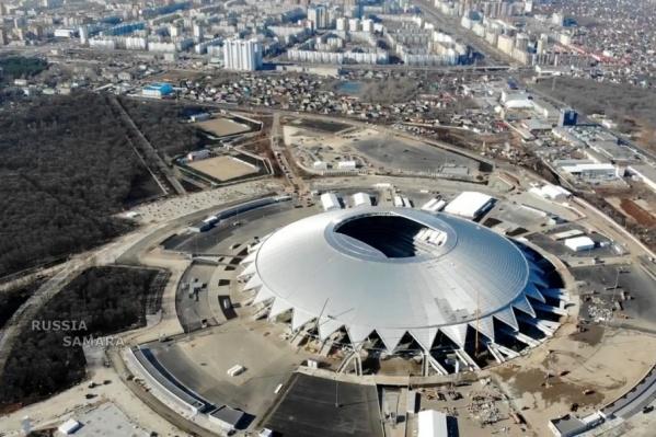 Космический стадион практически готов для приема зрителей