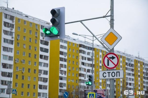 Светофоры на Московском шоссе также подключили