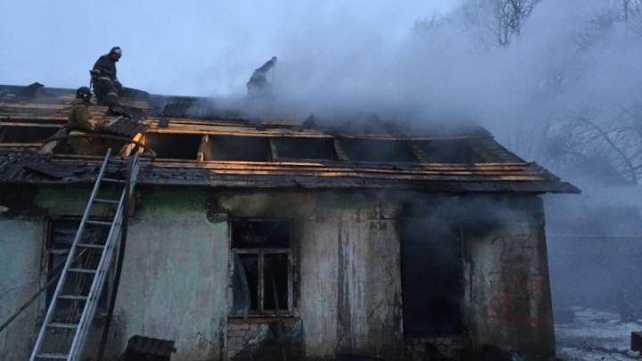 В Кузнечихе сгорел расселенный дом