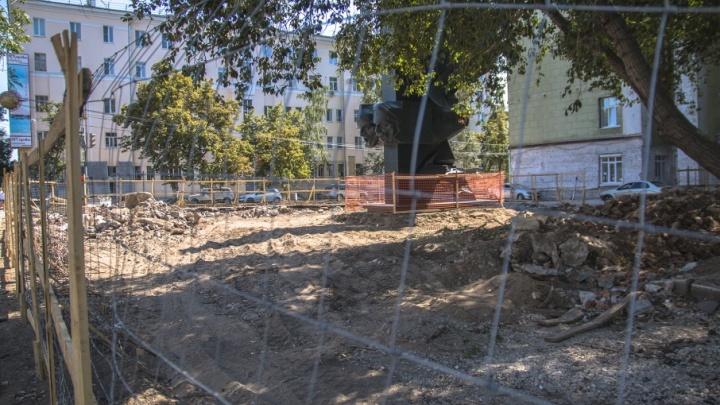 В Самаре полностью разобрали фонтан на Красноармейской