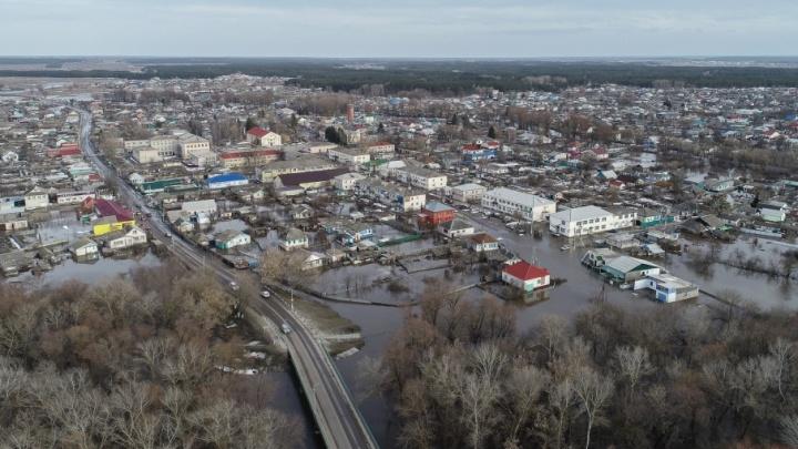 Кругом вода: страшный потоп в Кумылженском районе показали с высоты