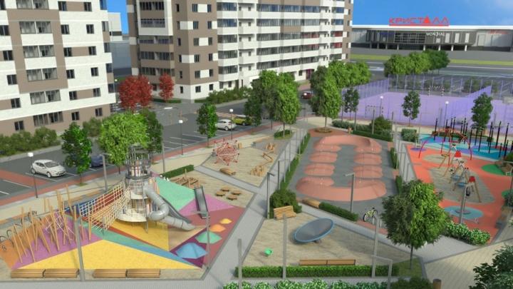 В одном из ЖК Тюмени появится концептуальный двор