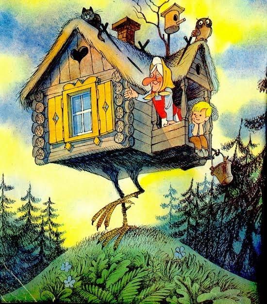 """Иллюстрация к книге """"Вниз по волшебной реке"""". Автор иллюстраций Виктор Чижиков"""