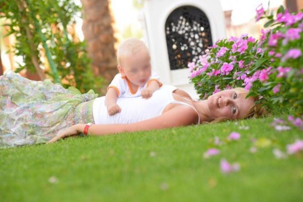 Марина с сыном Климом.