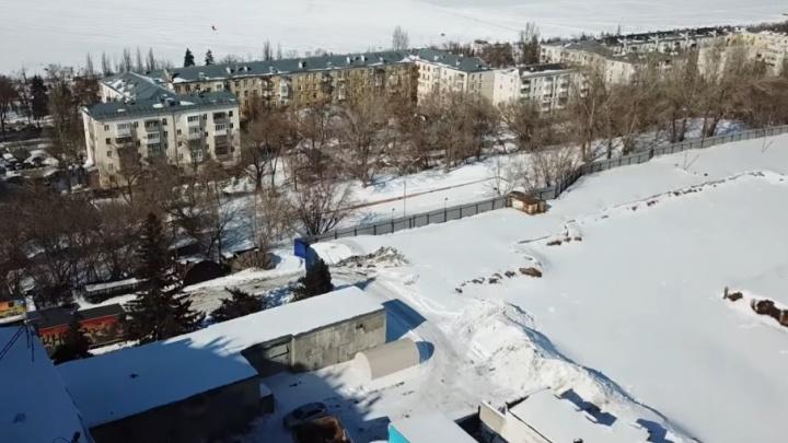 Видео с квадрокоптера: площадку бывшего Дворца спорта очистили от бетонных обломков
