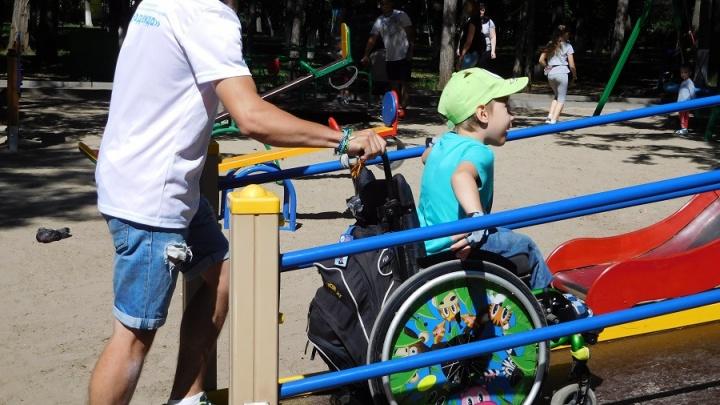 Детскую площадку для инвалидов открыли в парке им. Н. Островского