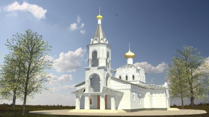 В поселке Горная Поляна Волгограда устанавливают временный храм