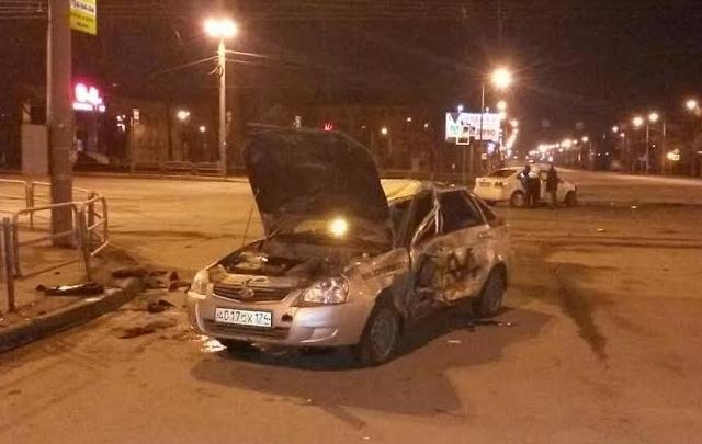 В ночь на понедельник в Челябинске произошло ДТП с двумя ранеными