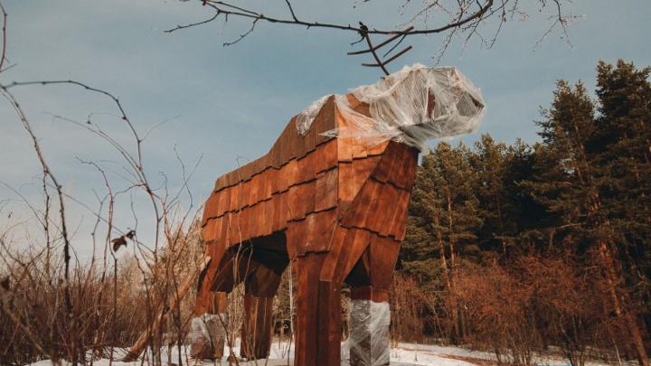 Площадка для медитации, видеонаблюдение и деревянные фигуры зверей: смотрим, как преображается Затюменский парк