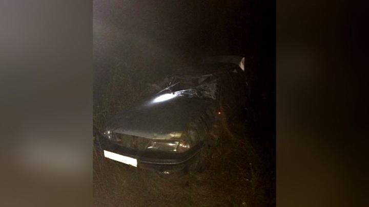 На трассе под Самарой иномарка вылетела в кювет, погибла пассажирка