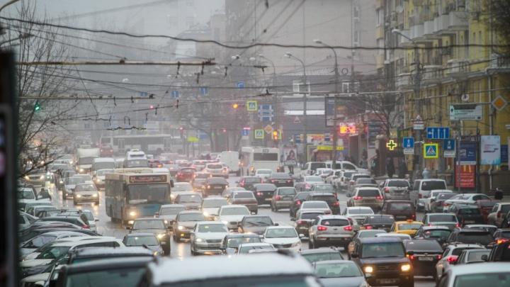 Дождь привел к авариям по всему Ростову