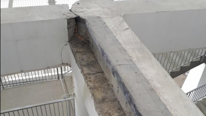 На «Волгоград Арене» заделают вскрытую кладку рядом с найденной трещиной